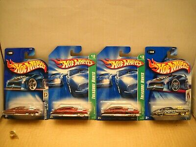 Hot Wheels 2007 $ Super Treasure Hunt Evil Twin 1950s Cadillac Wastelanders Lot