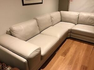 3 Piece Modular Leather Lounge Cromer Manly Area Preview
