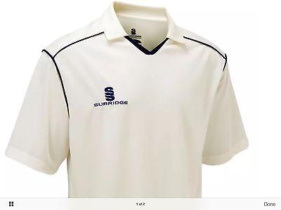New Men's White Cricket Shirt In Uk Large Size