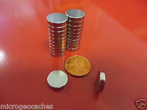 10 Large 1/2 x 1/8 inch Neodymium Disc Magnets Super Strong Rare Earth Magnet