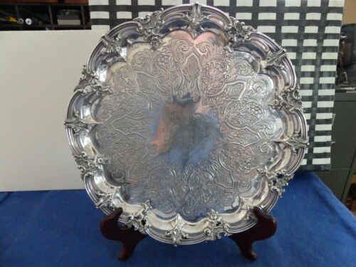 Antique Victorian Sterling Silver Footed Salver by Edward Barnard EEJWB c. 1837