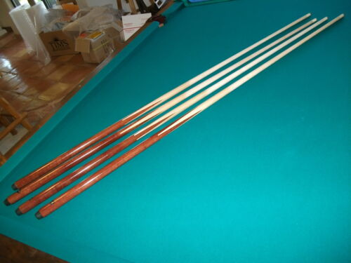 """Brand New One Piece Pool Cues Economy Bar Sticks Maple inlayed 57""""inch set of 4"""
