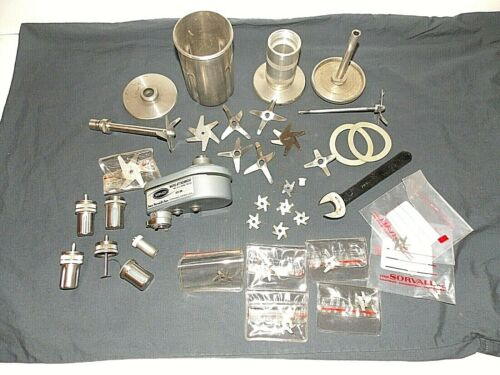 Big lot of DuPont Sorvall Mixer Homogenizer parts Blades & Micro Attachment