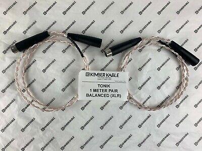 Kimber Kable TONIK 1 Meter Pair with Balanced (XLR) connectors (Retail $110)