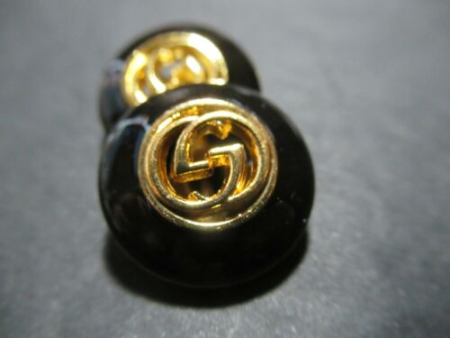 Gucci 2 buttons  GOLD  BLACK tone 20 mm   BUTTONS THIS IS FOR 2