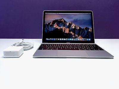 Apple 12 inch MacBook Retina 2017-2018 Space Grey 512GB 1.3Ghz Core i5! Warranty