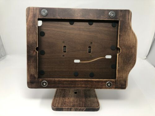 Wood Freeform Made Handmade Countertop iPad Stand Point of Sale