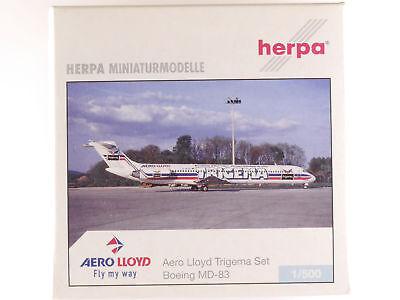 Herpa 510639 Boeing MD-83 + Airbus A321 Aero Lloyd Trigema Set OVP 1605-07-17