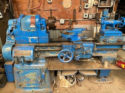 16 X 6 South Bend Engine Lathe With Taper Attachment Single Phase 24 Swing