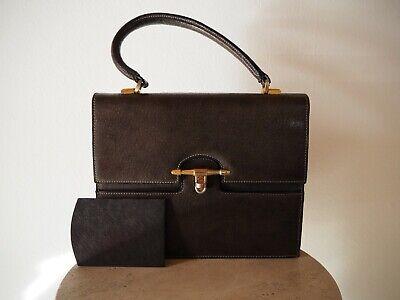 GUCCI pour G. DEBY * RARE Stunning Vintage leather handbag / purse