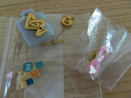 Lot of 3 AstraZeneca Lapel Pins Tie Tack, Pharmaceutical Drug Rep, Promo items
