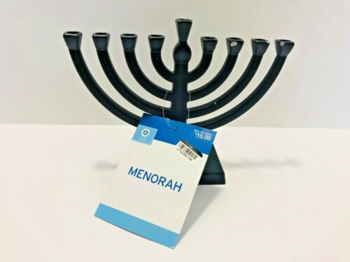 Hanukkah Mini Metal Menorah Black