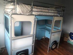 VW car bunk bed