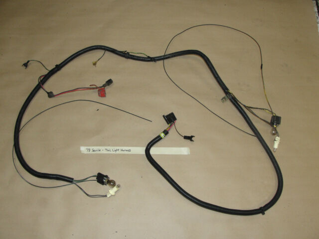 $_58 oem 78 cadillac seville trunk tail light brake wire harness Tail Light Pigtail Connector at reclaimingppi.co