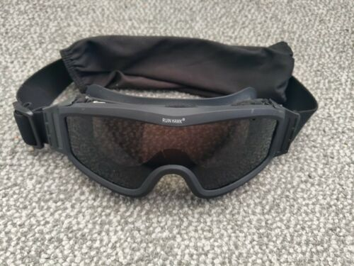 Airsoft Ruin Hawk Protective Tactical Goggles - Black w/ Smoked Lens