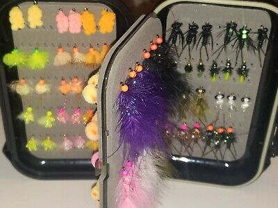 Salmon Assortment in 2 Sided Waterproof Fly Box ChiFly Classic Steelhead