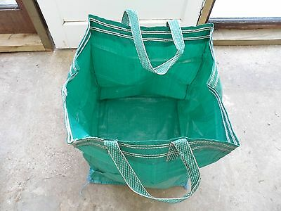 CLEARANCE STOCK-100 GARDEN BAGS/GREEN/ALLOTMENT,LEAF COMPOSTING,BUILDERS,STORAGE