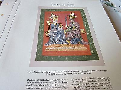München Archiv 2 Geschichte 2005 Münchner Stadtrecht Kaiserbild Handschrift