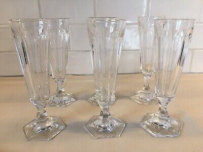 6 flûtes à champagne en cristal Modèle PONIATOWSKI cp  H: 175 mm Val St Lambert