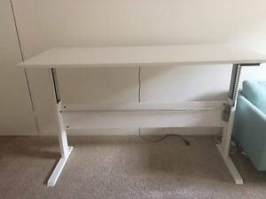 White Electric Height Adjustable Sit Stand Desk Ashfield Ashfield Area Preview
