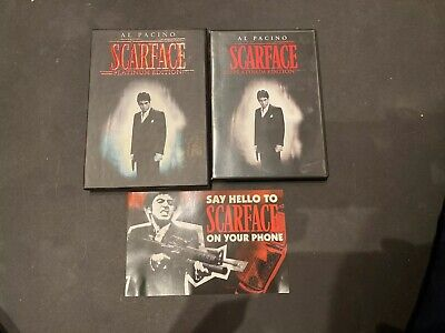 SCARFACE (DVD) 2-Disc Set, Platinum Edition) Al Pacino 1983 Crime Drama.