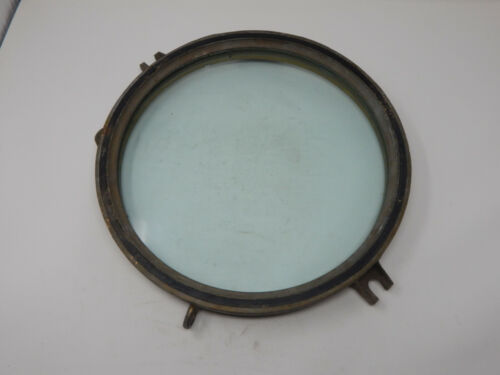 Vintage Brass & Glass Nautical Ship Porthole Window