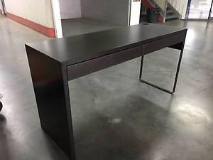 "Desk - IKEA - ""Micke"" - dual-width desk with drawers Kensington Melbourne City Preview"