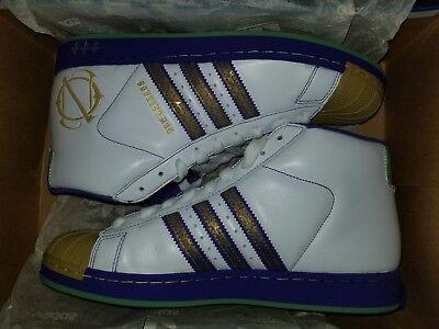 super popular b5f7c 91cc5 2007 Adidas Pro Model NEW ORLEANS Sz 9.5 White Purple 059844 Unworn  Vintage