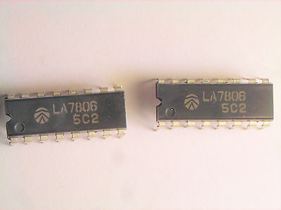La7806 Original Sanyo 16p Dip Ic 2 Pcs