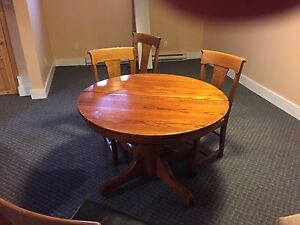 Antique table and chair set