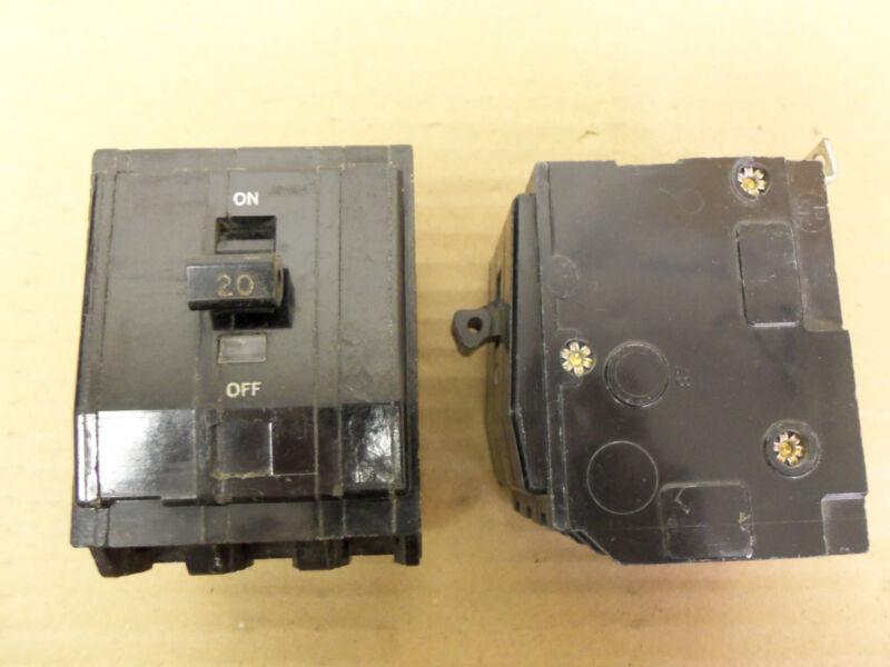 SQUARE D QOB QOB320 3 POLE 240V 20 AMP CIRCUIT BREAKER BLACK FACE