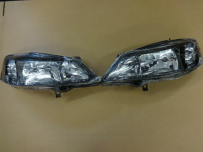 Vauxhall Astra G (1998-2004) Pair Of Smoked Black Headlights New