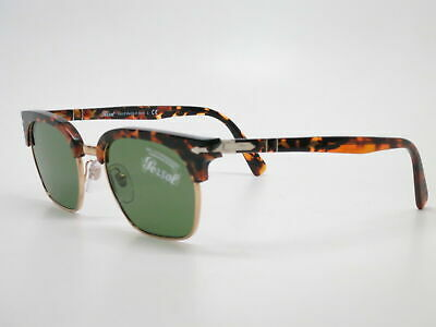 PERSOL TAILORING EDITION TORT BROWN CRYSTAL GREEN SUNGLASSES PO3199S 108152 (Persol Clubmaster)