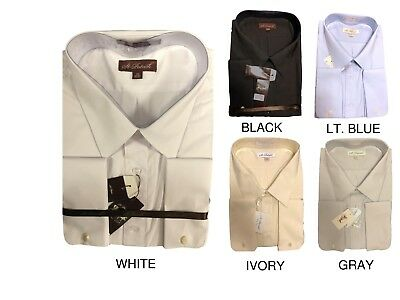 Big And Tall French Cuff Dress Shirts (BIG & TALL Dress Shirt - Long Sleeve Button Down - FRENCH CUFF - 3XL 4XL 5XL 6XL )