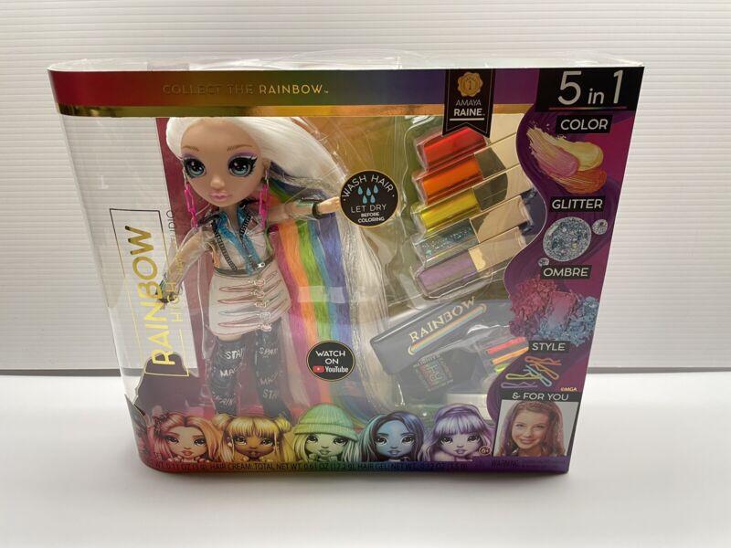 Rainbow High Hair Studio Exclusive Amaya Raine Fashion Doll 5-in-1 for Girls