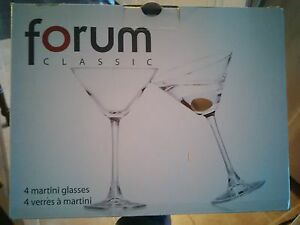 brand new set of martini glasses with charms