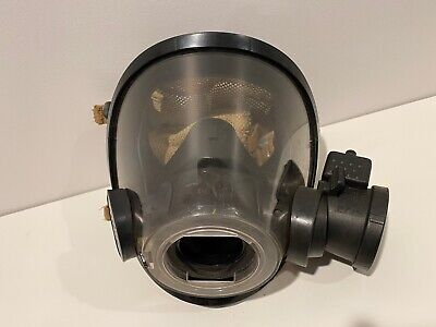 Scott Scba Av-3000 Medium Mask W Voice Amp Firefighter Fireman Kev Netting