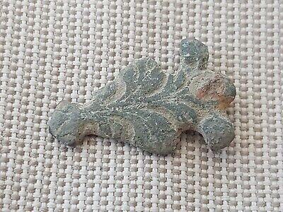Nice post Medieval copper alloy sword belt decor. Please read description L106z