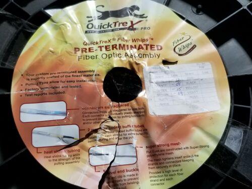 QuickTrex 700ft Pre-Terminated 2-Eye 4-Fiber MultiMode Outdoor Fiber Optic Cable