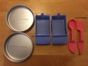 Easy bake oven accessories Cake pans mixing bowls spoon spatula