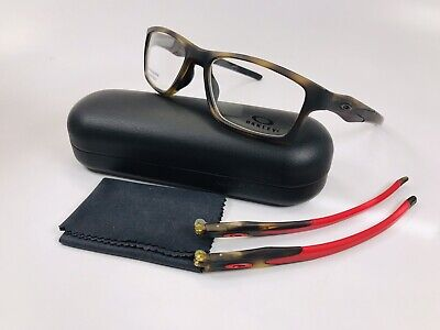 🔹New Oakley OX8090-0855 Brown Tortoise Eyeglasses 55mm w/ Case & Spare Temples