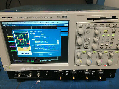 Tektronix Tds7404 Digital Phosphor Oscilloscope Dpo 4 Ghz 20 Gss Used