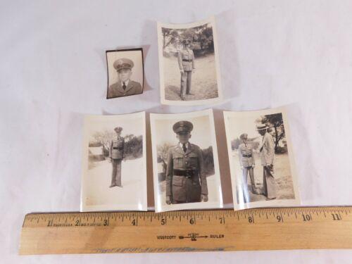 5 Vintage Peacock Military Academy Cadet Photos 1937-1940 Bobby Cutting