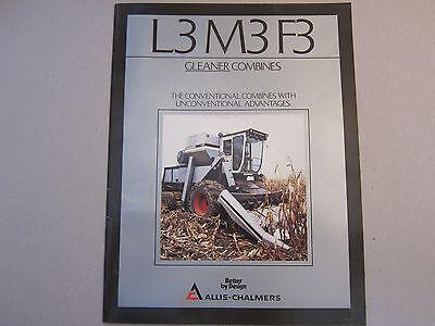 Allis Chalmers Gleaner L3 M3 F3 Combine Dealer Sales Brochure Manual More Listed