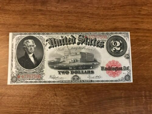 $2 UNITED STATES STAR NOTE   FR60 STAR   1917 NICE NOTE EXTREMELY RARE