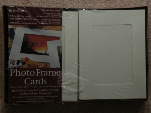 Strathmore 40 Photo Frame Cards, White, W/Die Cut Window, #105-250, FREE SHIP!