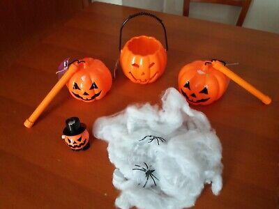 2 lanterna Halloween zucca Halloween ragnatela Halloween e gadget