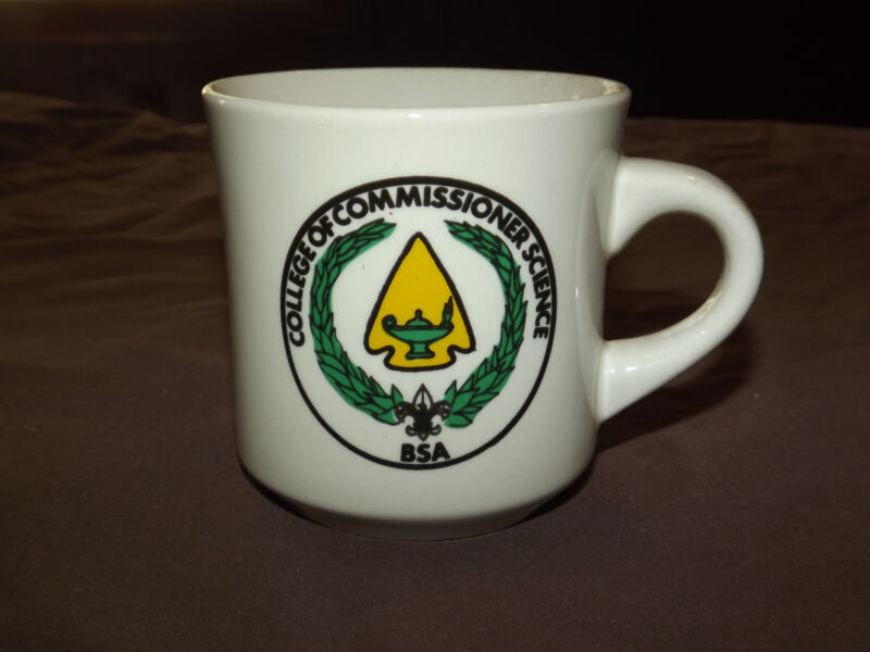 VINTAGE BSA BOY SCOUTS  COFFEE MUG COLLEGE OF COMMISSIONER SCIENCE