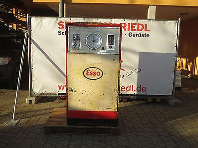 Zapfsäule, Ölkabinett Esso für 200 Ltr. Fass