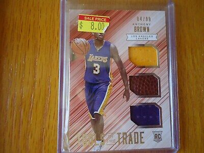 Used, 2015-16 ABSOLUTE TOOLS OF TRADE ANTHONY BROWN LOS ANGELES LAKERS 64/99 NICE for sale  Shipping to Canada